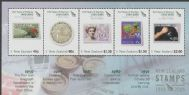NZ SGMS2796 150 Years of New Zealand Stamps (3rd issue) miniature sheet